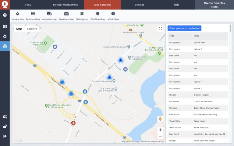 Fire Department Mapping Software